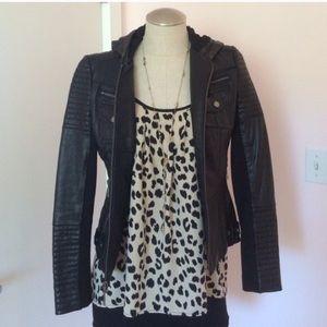 Ro & De cheetah Razorback xs blouse